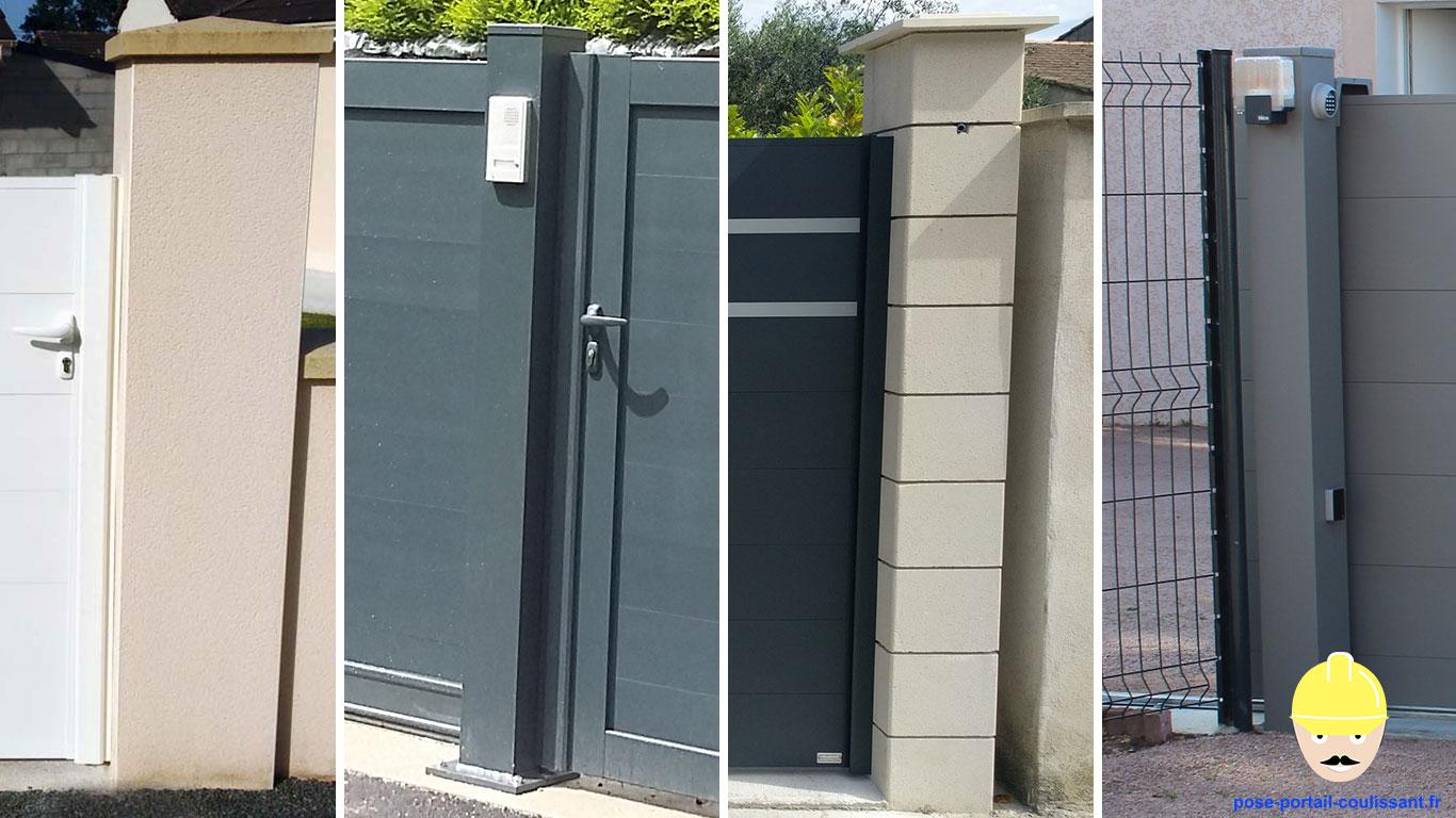 bien choisir les mat riaux pour r aliser vos piliers de portail comment poser un portail. Black Bedroom Furniture Sets. Home Design Ideas