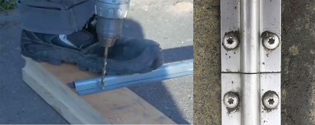 Fixation du rail au sol